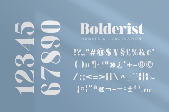 Bolderist font free