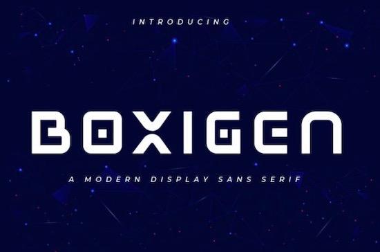 Boxigen font free download