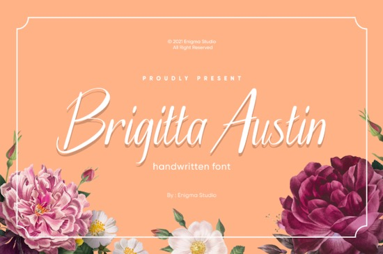 Brigitta Austin font free download