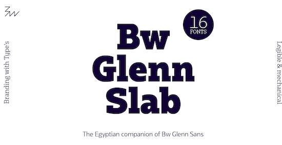 Bw Glenn Slab font
