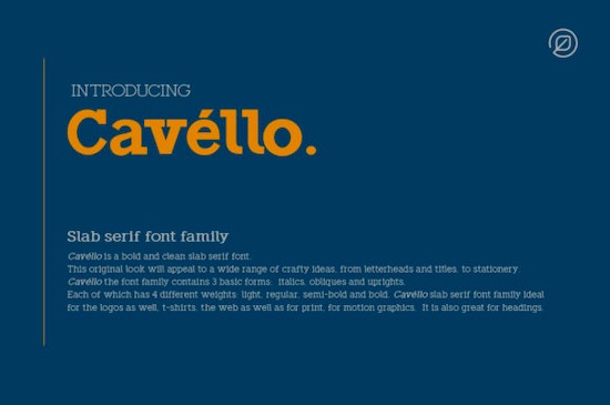 Cavéllo font family free download