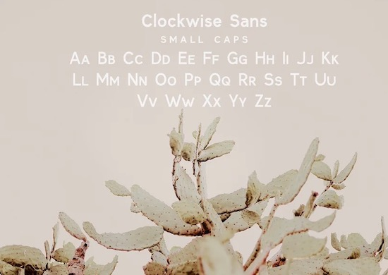 Clockwise font download