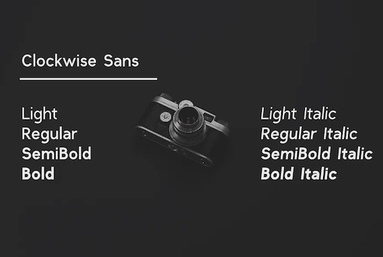 Clockwise font free