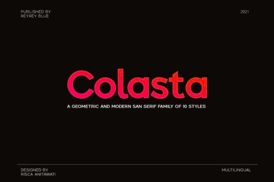 Colasta font family free download