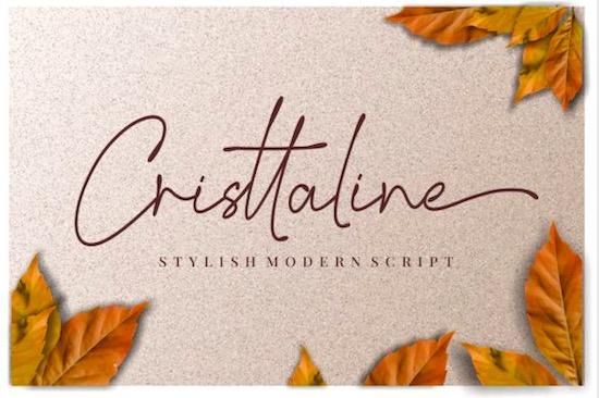 Cristtaline font free download
