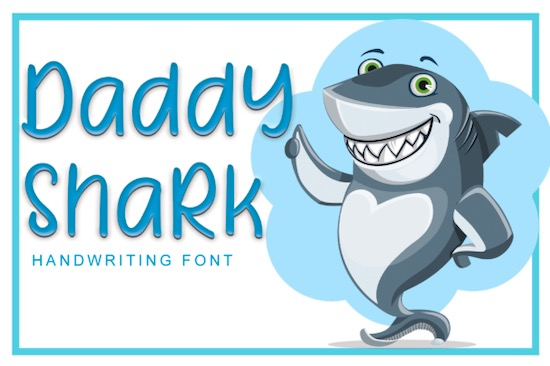 Daddy Shark font free download