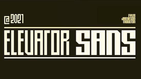 Elevator Sans font free