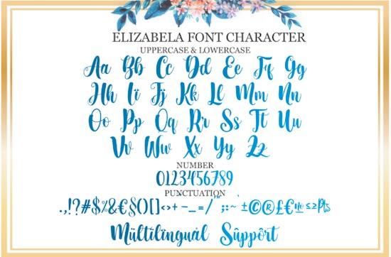 Elizabella font free