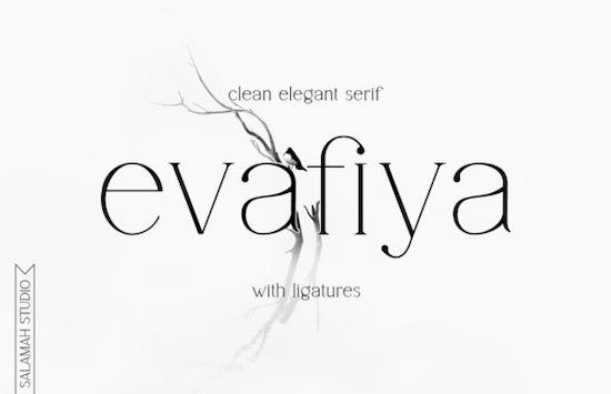 Evafiya font free download
