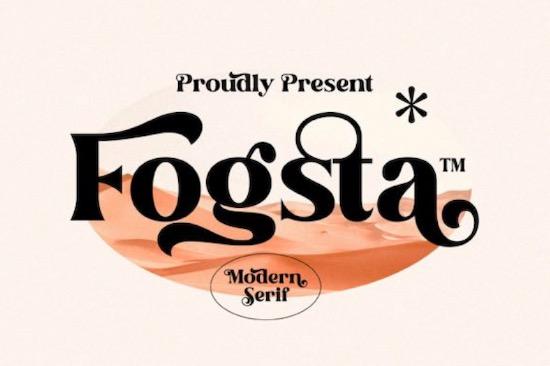 Fogsta font free download