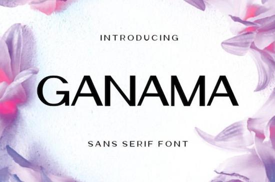 Ganama font free download