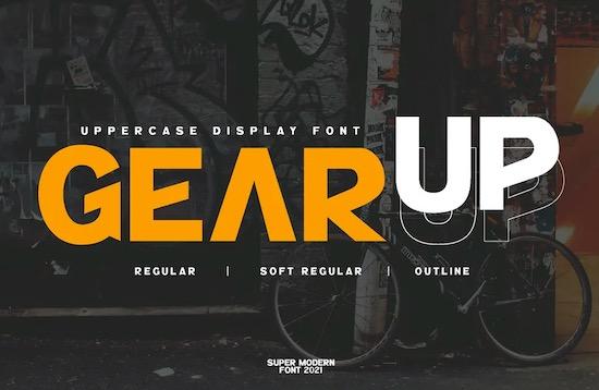 GearUp font download