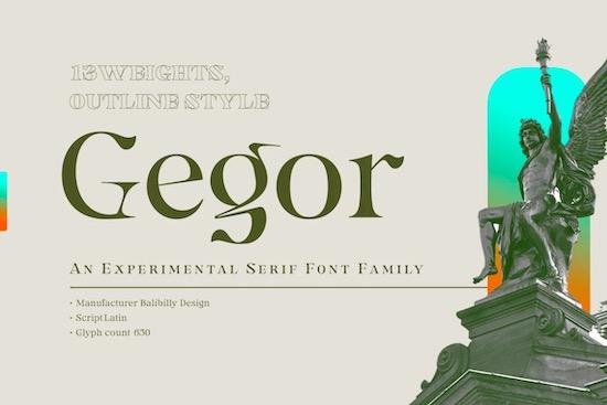Gegor font free download