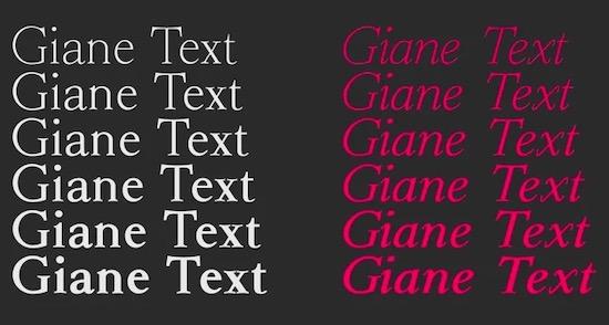 Giane font family download