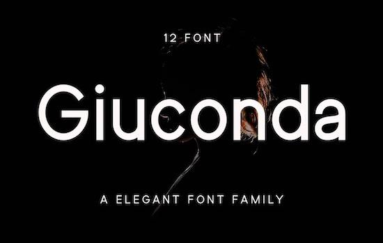 Giuconda font family free download