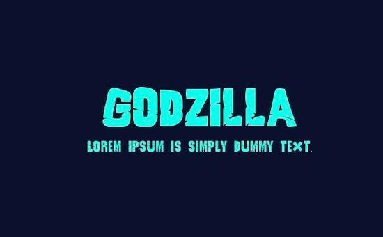 Godzilla font free