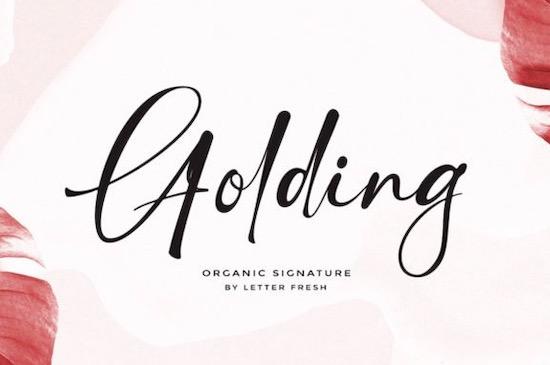 Golding font free download