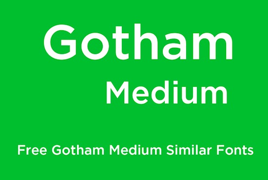 Gotham Medium font
