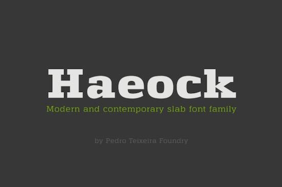 Haeock font family free download