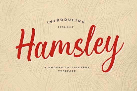 Hamsley font free download