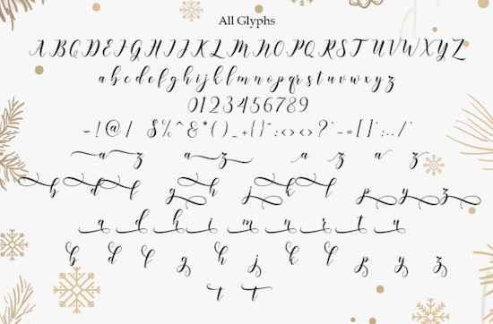 Happy Christmas font download