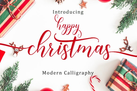 Happy Christmas font free download