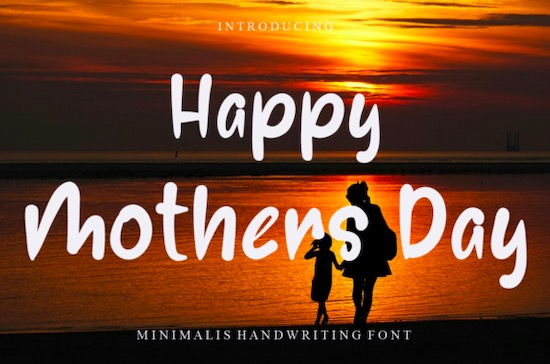 Happy Mothers Day font free download