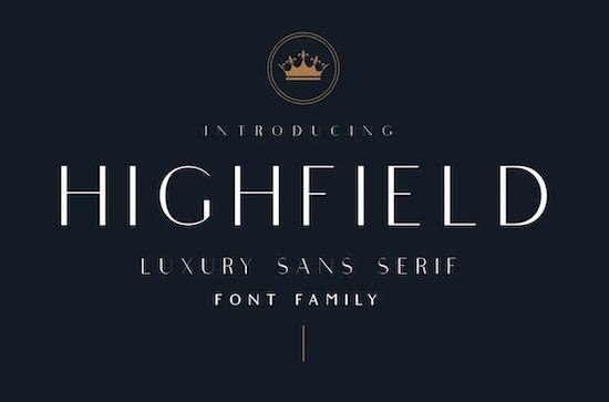 Highfield font free download