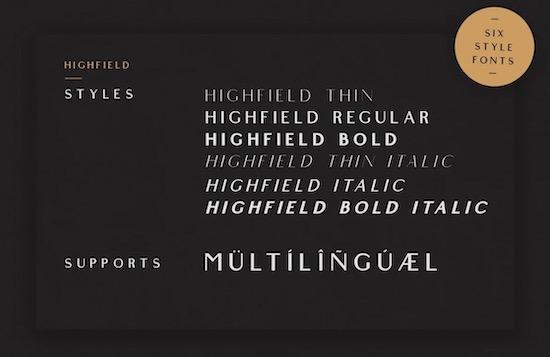 Highfield font