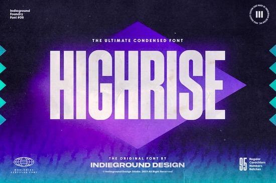 Highrise font free download