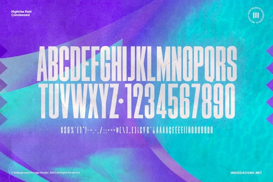Highrise font free