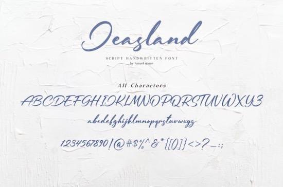 Jeasland font download
