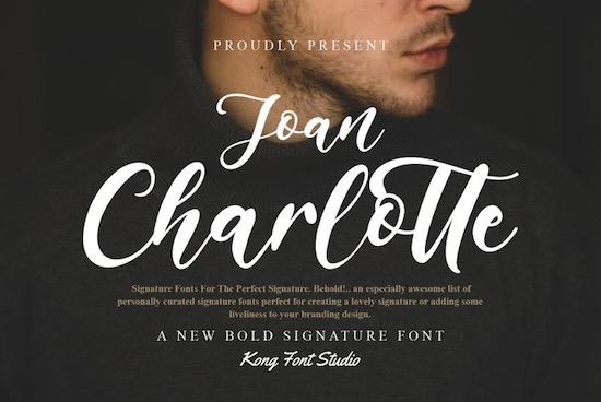 Joan Charlotte font