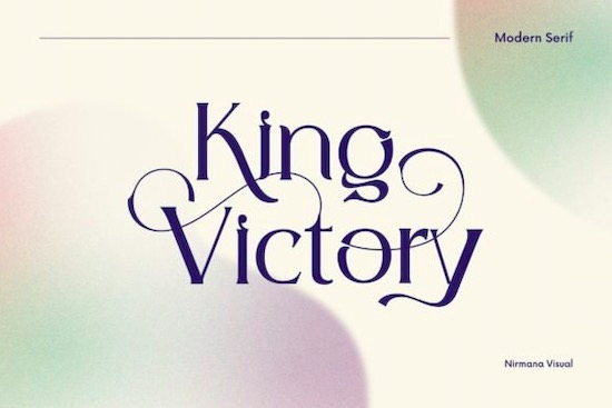 King Victory font free download