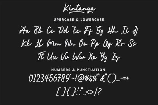 Kintanya font download