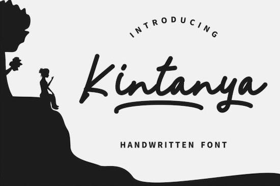 Kintanya font free download