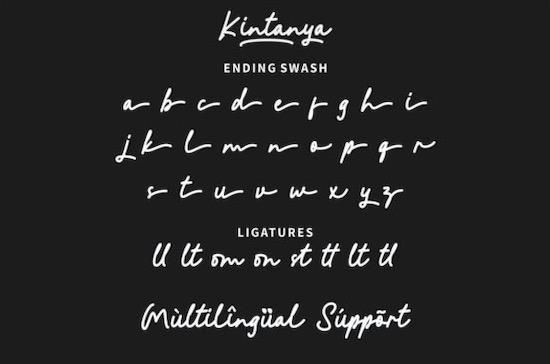 Kintanya font free