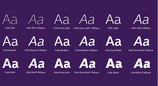 Kole font free