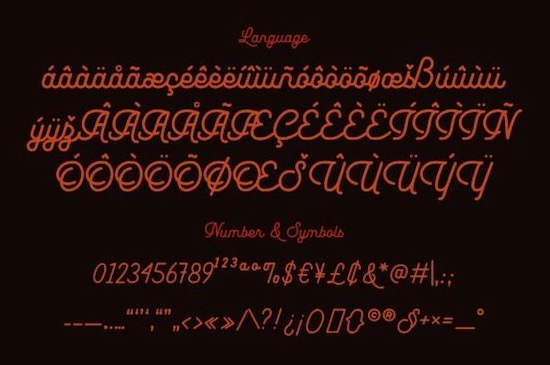 Leuthikline font free