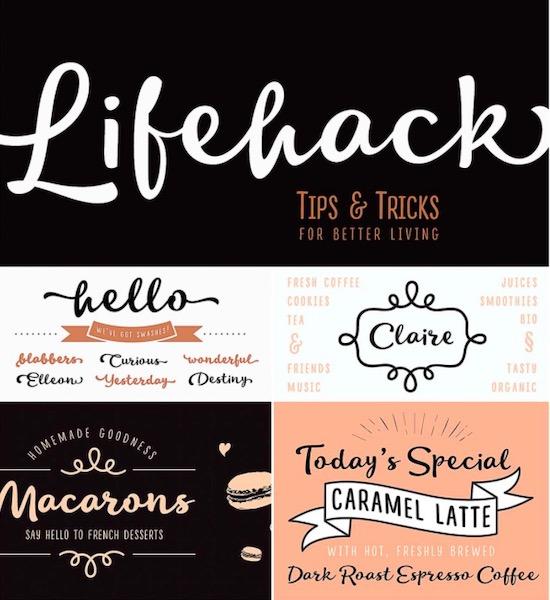 Lifehack font