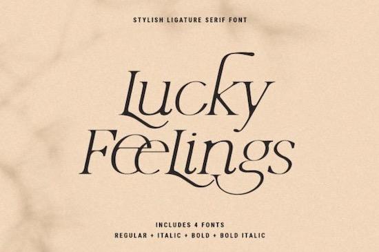 Lucky Feelings font download