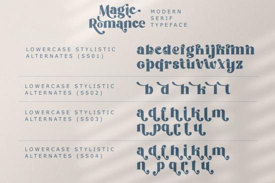 Magic Romance font download