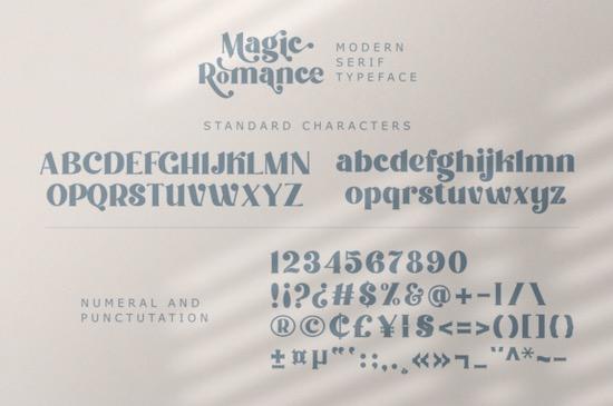 Magic Romance font free