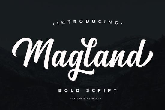 Magland font free download
