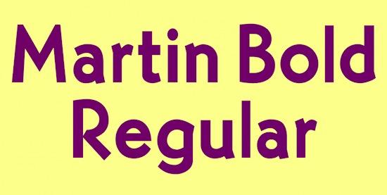 Martin Bold font