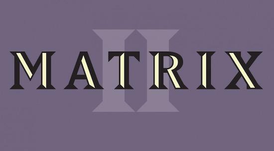Matrix II font download