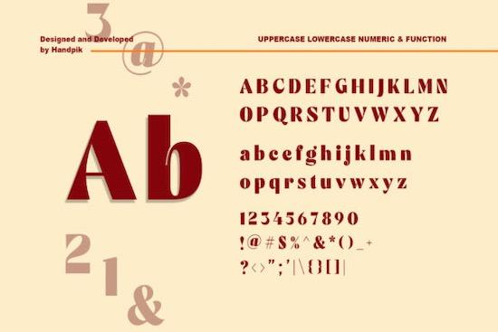 Mechta font free