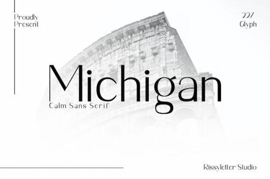 Michigan font free download