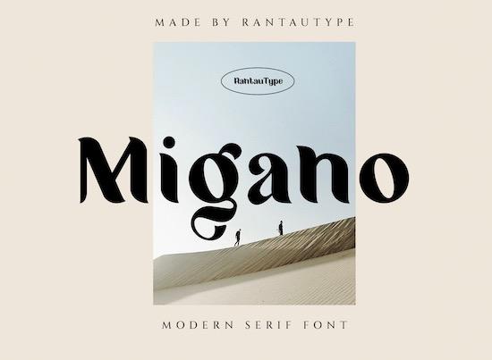 Migano font