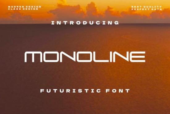 Monoline font free download